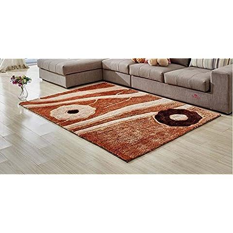 Jack Mall- Alfombra simple cifrado Modelo moderno Corea del Sur alfombra de seda Habitación Sala de cabecera rectangular Mesa de Manta estilo europeo antideslizante ( Tamaño : 120*170cm