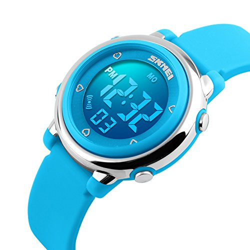 Alpi Kids LED digitale impermeabile orologi (Blu)