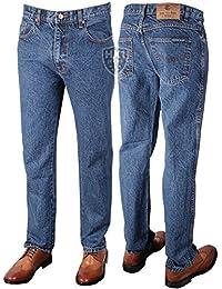 Marque Aztec Bleu Jeans Homme Coupe Droite 30–Taille 60