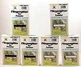 Fliegengitter für Fenster (EUR 1,67/m²) Schwarz/Weiß je 150cm x 130cm Insektennetz inkl. Klettband Fliegennetz (Schwarz, 4 Stück)