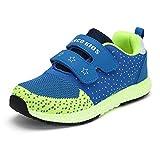 Jungen Mädchen Kinderschuhe mit Klettverschluss Leicht Hallenschuhe Outdoor Sportschuhe Turnschuhe Baby Freizeit Laufschuhe Running Sneaker