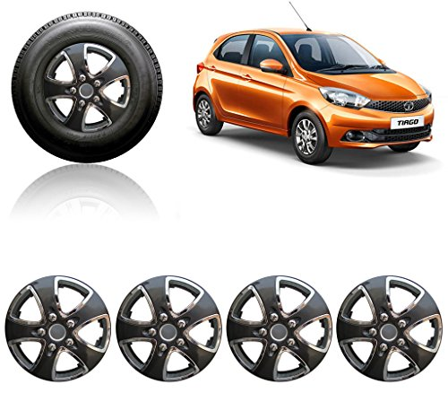 "Auto Pearl - Premium Quality Car 14"" Press Type Wheel Cover For - Tata Tiago"