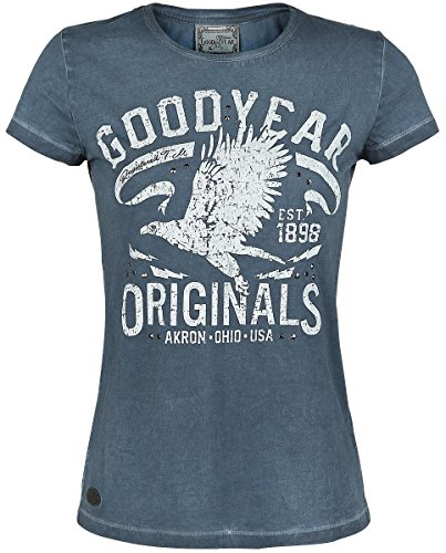 Goodyear Damen Kennwick T-Shirt, Marine, XL blau