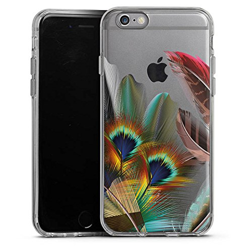 Apple iPhone 6 Silikon Hülle Case Schutzhülle Pfauenfedern ohne Hintergrund Pfau Silikon Case transparent
