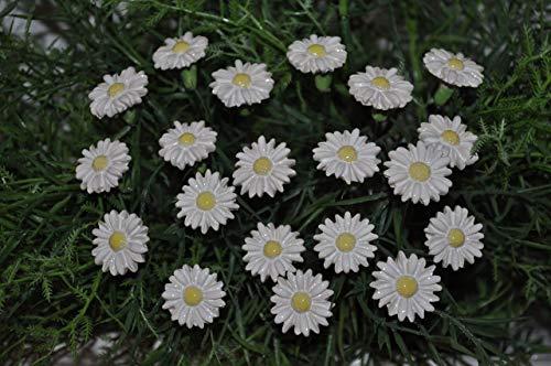 20 Keramik-Gänseblümchen von SylBer-Ceramics Blumen-keramik