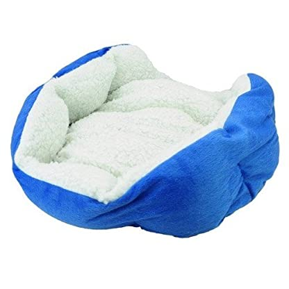 Gift New Coffee Warm Soft Fleece Pet Dog Cat Bed House with Mat Soft Pad Mat 5