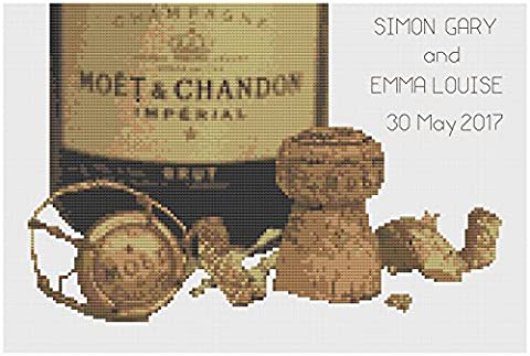 Champagne Celebration Lite Wedding Sampler Cross Stitch Kit