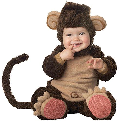 Affen-Kostüm für Babys mit lustigen Ohren - Premium 80/86 (18-24 Monate) (Affen Kostüm Mit Schwanz Und Ohren)