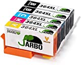 JARBO Compatible HP 364 XL Ink Cartridges 4 COLOR (2 Black,1 Cyan,1 Magenta,1 Yellow) High Capacity Compatible with HP Photosmart 5510 5511 5512 5514 5515 5520 5522 5524 6510 6520 6512 6515 7510 7520 7515 B8550 B8558
