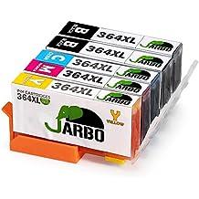 JARBO Compatible HP 364 XL Cartuchos de tinta (2 Negro,1 Cian,1 Magenta,1 Amarillo) Alta capacidad Compatible con HP Photosmart 5510 5511 5512 5514 5515 6510 6520 6512 6515 7510 7515 C5324 C5370 C5373 C5380 C5383 C5388 C5390 C5393 D5460 D5463 D5468 C6324 C6375 C6380 C6388