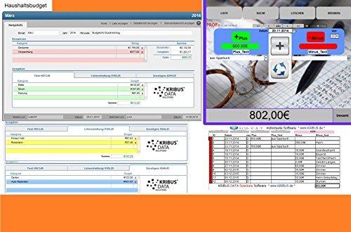 PROF-EA 2.0w Haushaltsbuch Kassenbuch Einnahmen Ausgaben Geld Finanzen Software Haushaltsbücher Kassenbücher Gelder verwalten Sparbuch für Windows Apple Mac Dropbox Windows-geld