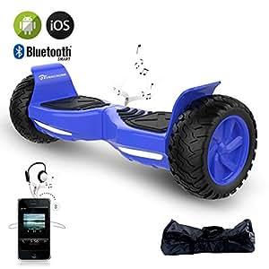 EVERCROSS Hoverboard Challenger Basic 8,5 Gyropode Tout-terrain Smart Skateboard Électrique (Blue)