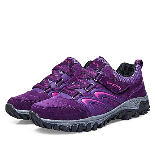 gracosy Zapatos de Senderismo Mujeres Trekking Escalada
