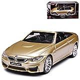 B-M-W 4er Cabrio M4 F83 Beige Gold Ab 2014 1/43 CMC Toy Modell Auto mit individiuellem...