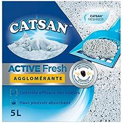 Catsan Active Fresh - Litière Minérale Agglomérante pour Chat 5 L