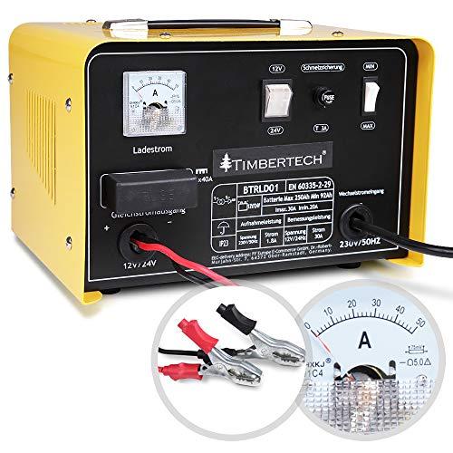 Timbertech Caricabatteria per batteria 12 V oppure 24 V auto moto off