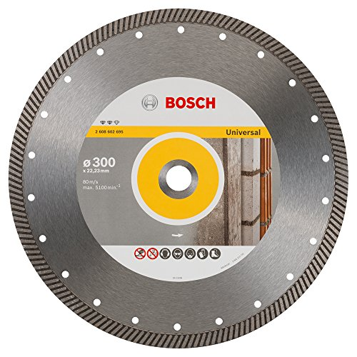 Bosch 2608602695 Disque à tronçonner diamanté expert for universal turbo 300 x 22,23 x 3 x 12 mm