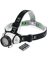 LE Lampe frontale à LED Super lumineux, 20 LED, 4 choix de niveau de Luminosité