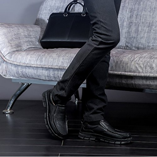Uomini Per Mette Di Grandi Vestito Linyi Scarpe Nuovo Dimensioni Gli A Business Mano Pigri Di Mostra Neri In vxqHxawp6