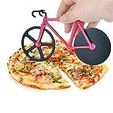 mxdmai 1pc vélo Pizza Cutter Double en Acier Inoxydable antiadhésifs de Coupe Roues spéciales Outil de Cuisine (Rouge)