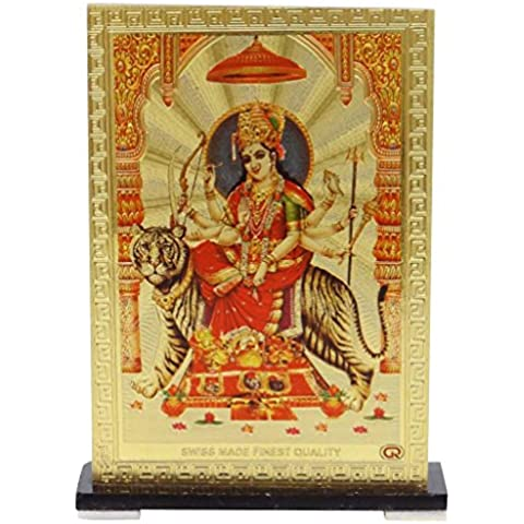 Hoja de cristal de plástico diosa Durga del tablero de instrumentos del coche del capítulo Decoración Accesorios Pooja