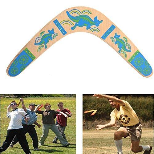 Klassische Holz Boomerang Form V Öffnen Winkel 100° Bumerang Outdoor Spielzeug