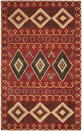 Safavieh HG404A-26 Multi Runner Traditionell 3' x 5' Red/Multi -