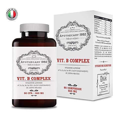 Apothecary 1982 - Vit. B Complex + Biotina + Acido Folico - 90 compresse - Per rafforzare il sistema immunitario e donare energia - 100% Made in Italy - Notificato al Ministero della Salute Italiano