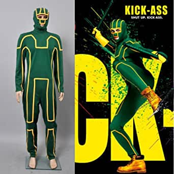 Kick-Ass Combinaison Jumpsuit Vert Cosplay Costume Déguisement - *Sur Mesure*