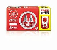 Good Knight Activ+ Combo Set (Buy 2 Refills; Get 1 Machine Free) + Get Nivea Soft Light Moisturiser Wroth Rs15/- Free