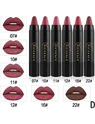 ROPALIA 6 Couleurs/Set Crayon Rouge à Lèvres Mat Waterproof Maquillage Lèvres Crayon Lipstick