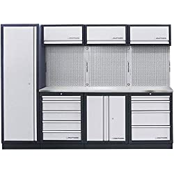Kraftwerk - 3964BIX - MOBILIO Sistema de armario de taller de 4 elementos Inox