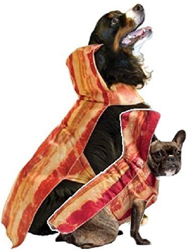 (Haustier Hund Katze süß Bacon Anzug Fast Food Turnier Kleidung Kostüm Kleid Kostüm Outfit kurzärmelige - Speck, Large)