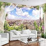 Wemall Fondo de pantalla mural mural 3D Paris Paris Torre Eiffel Ciudad para el fondo de la sala Decoración Arte, 350x245 cm (137.8 por 96.5 in)