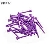 crestgolf 54mm púrpura violeta Madera tees de golf de madera,, Golf Tees de madera, pack de 100pcs