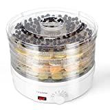 #8: Flexzion Dehydrator for Food Fruit - Electric Food Saver Fruit Dehydrator Preserver Dry Fruit Dehydration Machine with 5 Stackable Tray