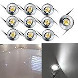 10x LED-Einbaustrahler Minispot Einbauleuchte Strahler Licht Set Alu 1W weiß