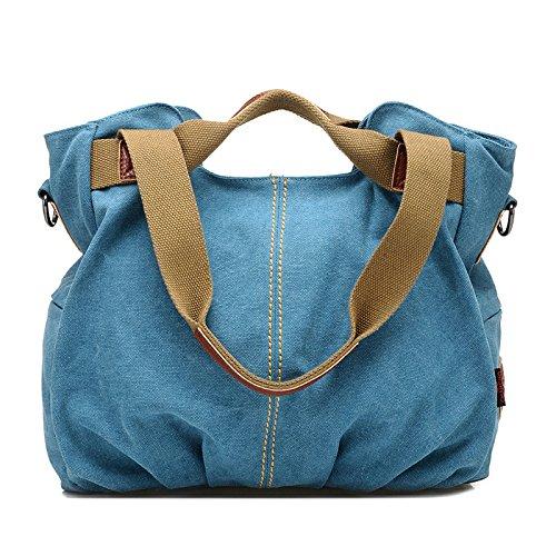 Mefly Singola Portabile A Spalla Croce Obliqua Bag Borsa Da Viaggio Malva blue