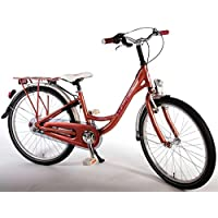 bicicletta bambina 24 pollici cambio Shimano 3 velocità portapacchi rosa