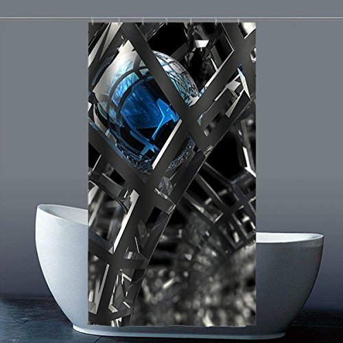 Brauch Metal 100% Polyester Fabrik Duschvorhang Shower Curtain 90 Zentimeters x 183 Zentimeters
