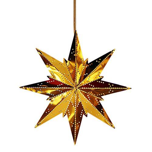 Kamaca Magisch leuchtender STERN Fensterbeleuchtung aus Messing Größe 25 x 25 Winter Weihnachten (gold)