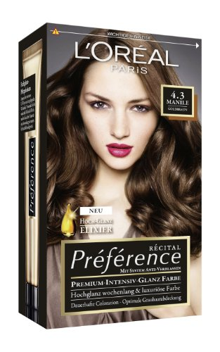loral paris prfrence coloration goldbraun 43 3er pack 3 x 1 colorationsset - Coloration L Oreal Blond