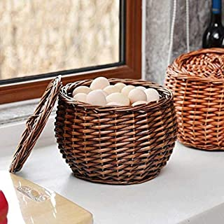 Anyu Handmade Bamboo Basket, Fruit Shopping Basket, Home Shopping Basket, Kitchen Storage Basket