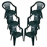 Best Chair For Backs - CrazyGadget Plastic Garden Low Back Chair Stackable Patio Review