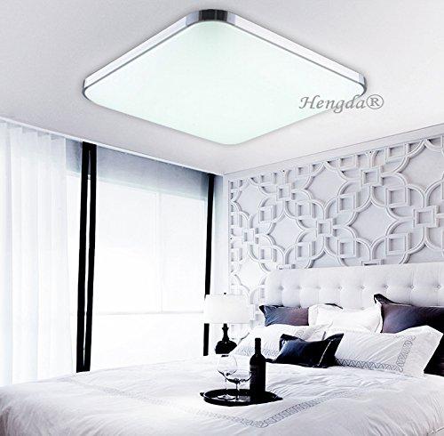 Hengda® 12W Energiespar LED Deckenleuchte Küche Badlampe Wohnzimmer Weiß 6000K-6500K Alu-matt Leuchte 1080LM Eckig 85V-265V