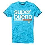 DEPARTED Herren T-Shirt mit Print/Motiv 4169-180 - New fit Größe L, Island Blue Melange