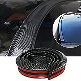 Embellecedor JDM de goma EPDM universal de Gogolo, 150 cm, para borde del parachoques trasero, parte trasera del techo o alerones, 100% impermeable, color negro