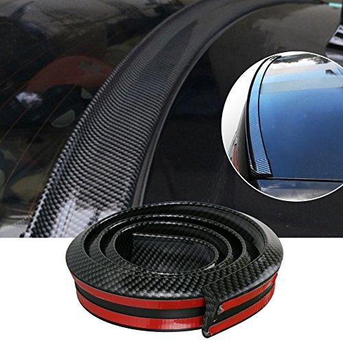 GOGOLO Glossy JDM 4.9ft / 150CM Universal EPDM Gummi Kofferraum Auto Hintere Dach Lippe Spoiler Streifen für SUV Hinten Stoßfänger Lippe, 100% wasserdicht Schutz, schwarz -