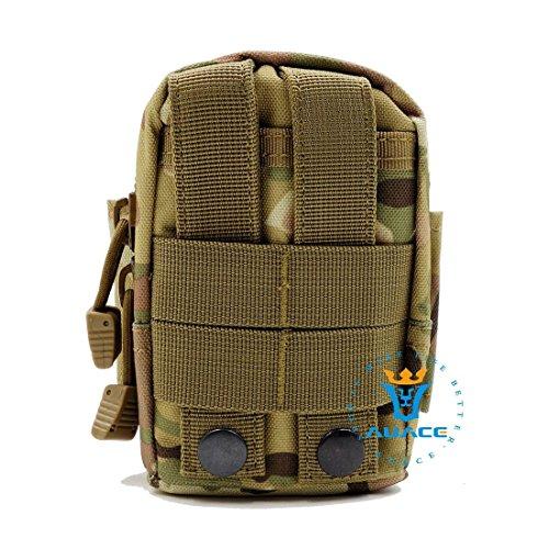 Multifunktions Survival Gear Tactical Beutel MOLLE Beutel Tactical Taille Tasche, Outdoor Camping Tragbare Handtaschen Werkzeug Tasche Reise Tasche CP