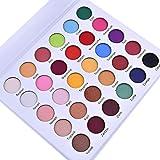 30 Farben Lidschatten Palette Matt Schimmer Glitzer Lidschatten hochpigmentierte Augenschatten Makeup Kosmetische Eyeshadows Flawless Palette